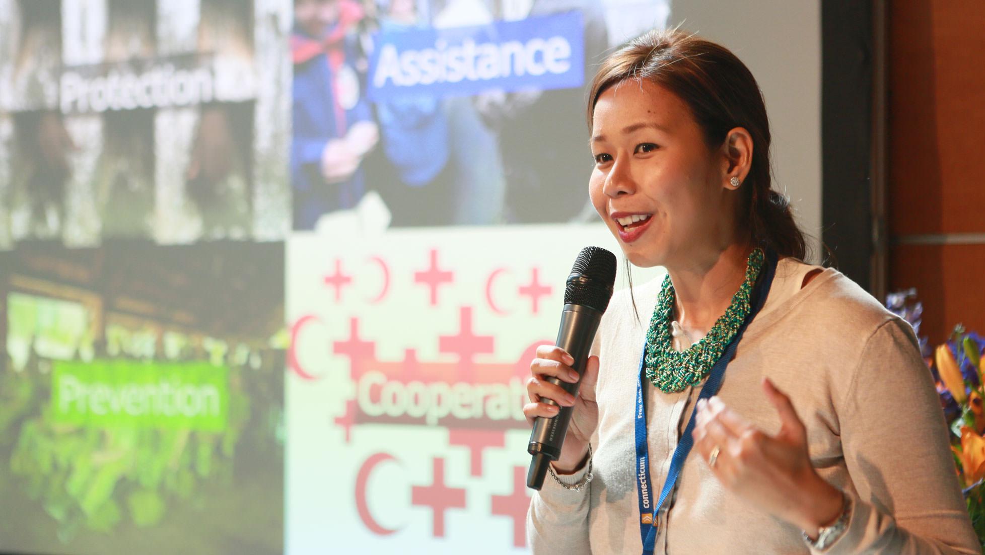 Foto Firmenvortrag auf der Firmenkontaktmesse