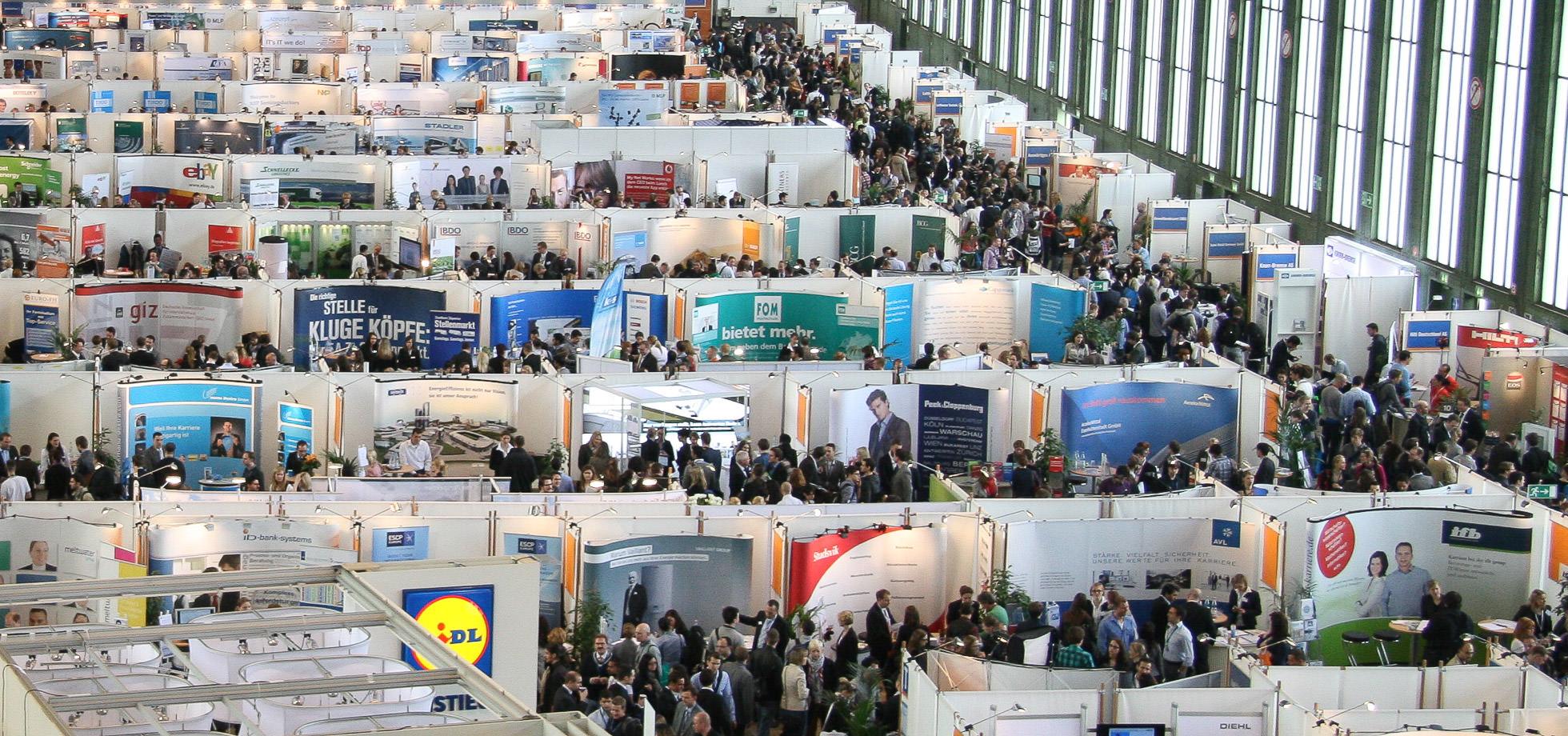 Foto von der Connecticum Firmenkontaktmesse Halle 1