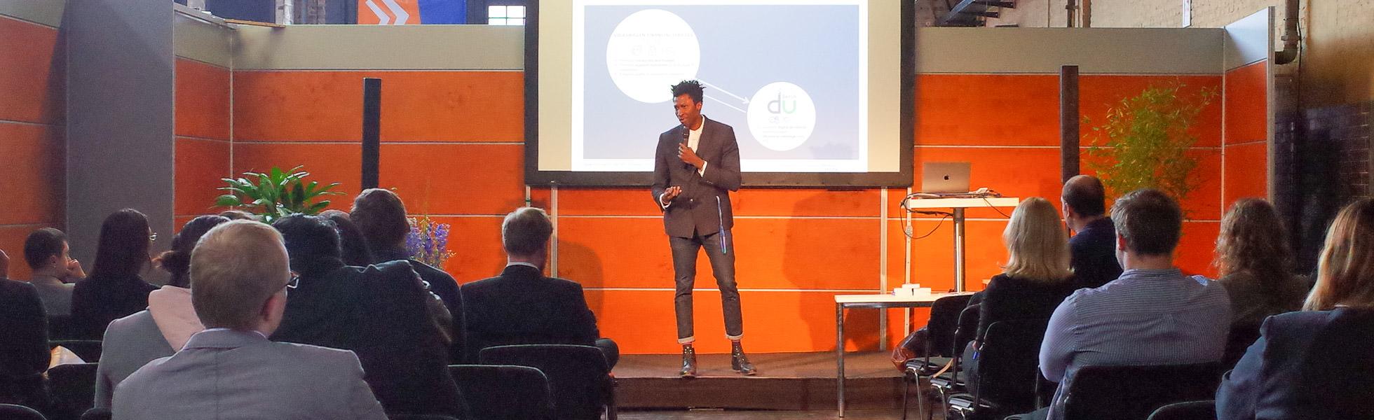Firmenpräsentation eines jungen Unternehmens zur Connecticum