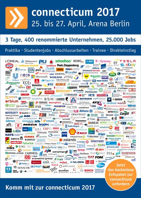 Messeplakat der Job- und Karrieremesse 2017