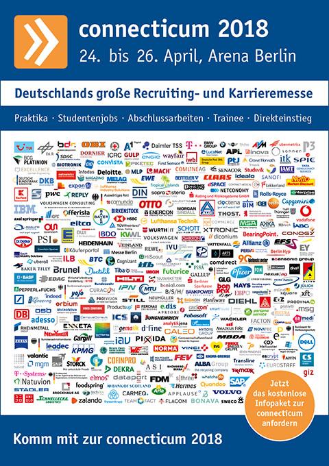 Messeplakat der Job- und Karrieremesse 2018