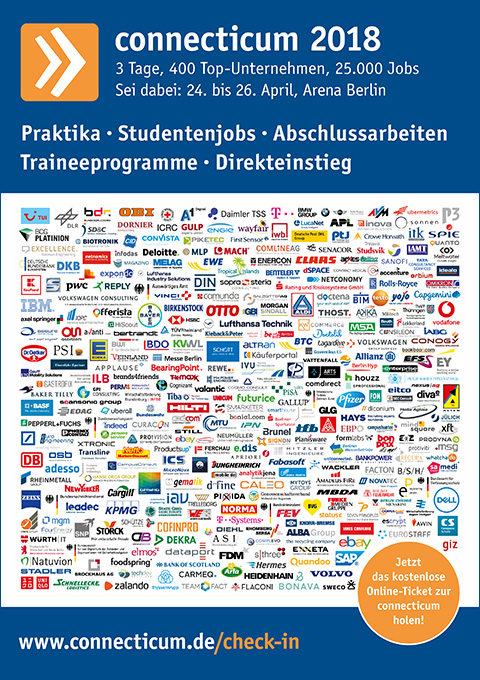 Messeplakat der connecticum 2018