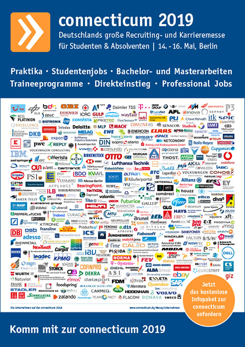 Messeplakat der connecticum Jobmesse