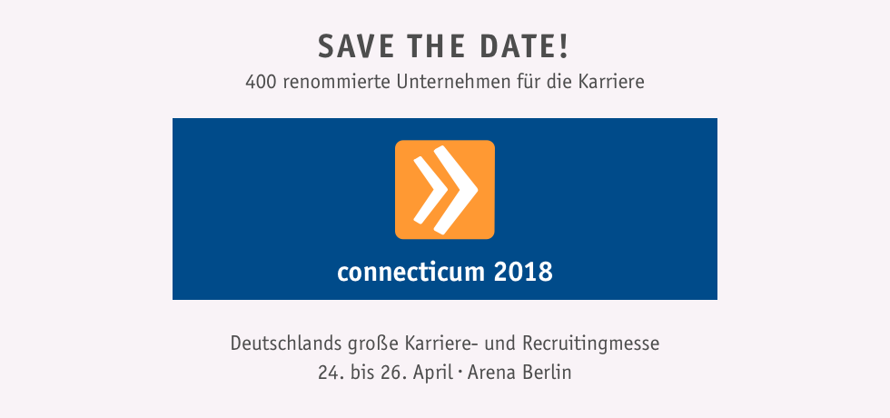 Komm mit zur connecticum 2018 - Save the date