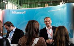 Arbeitgeber Microsoft zum ersten Mal auf der Karrieremesse