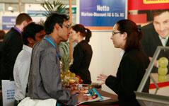 Arbeitgeber Netto nutzt die Jobmesse zur Personalrekrutierung