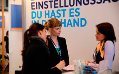 Employer Branding am Messestand von Hays