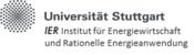 Universität Stuttgart - Institut für Energiewirtschaft und Rationelle Energieanwendung (IER) - Logo