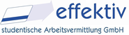 Karriere Arbeitgeber: effektiv studentische Arbeitsvermittlung GmbH - Aktuelle Stellenangebote, Praktika, Trainee-Programme, Abschlussarbeiten im Bereich Wirtschaftsmathematik